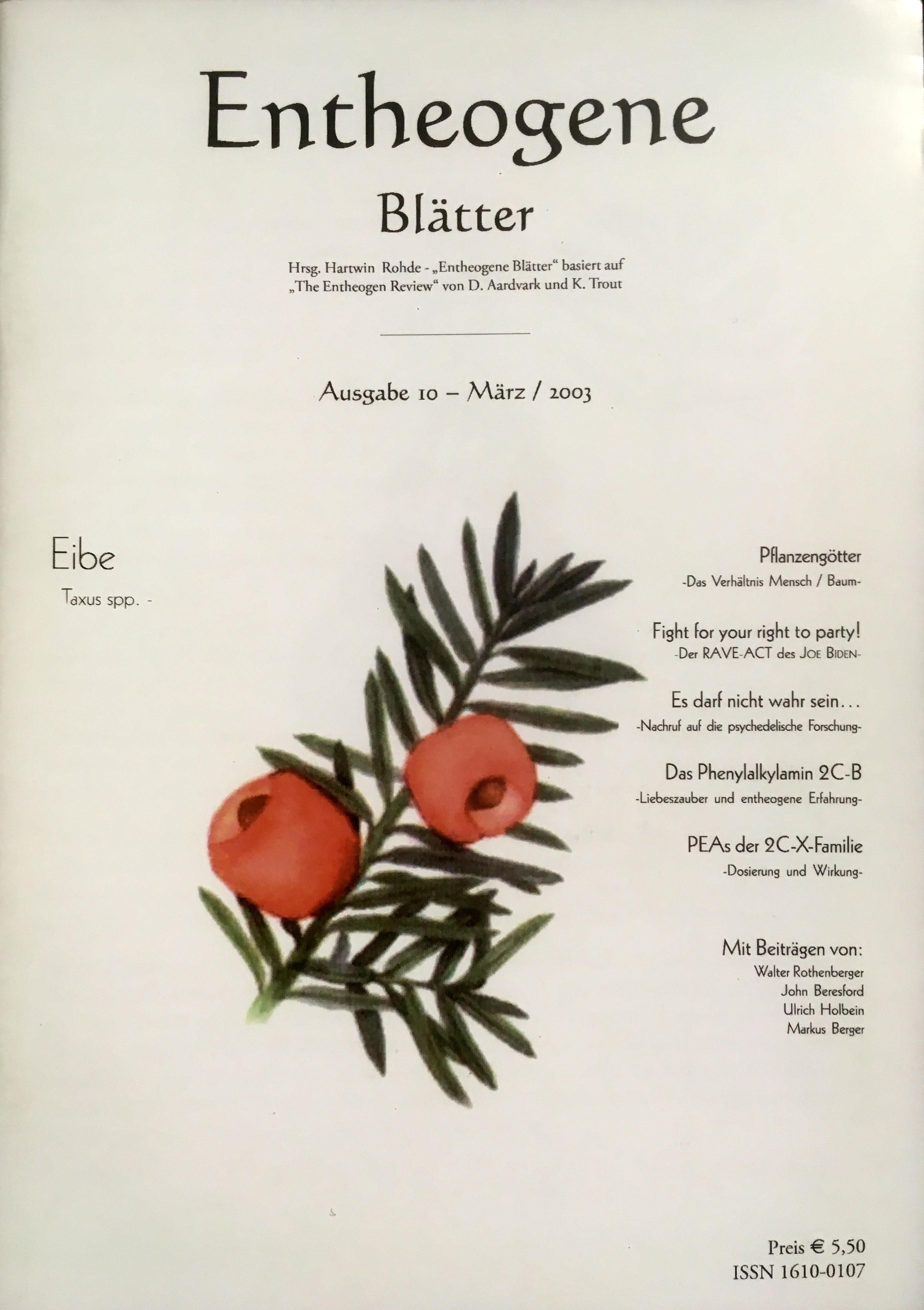 Entheogene Blätter Nr. 10